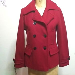 Giacca Red Pea button down coat Medium